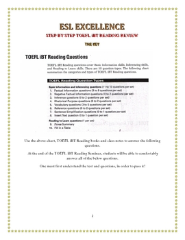 Toefl iBT Reading Test Tip