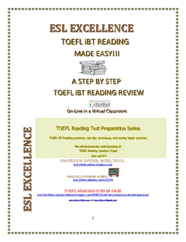 Toefl iBT Reading Test Tip