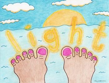 Toes Light Cartoon--Printable Montessori Homonym Cards