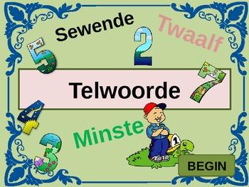 Toets my kennis van telwoorde - Afrikaans