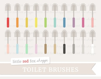 Toilet Brush Clipart; Cleaning