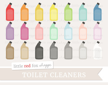 Toilet Cleaner Clipart; Cleaning, Clean, Supplies