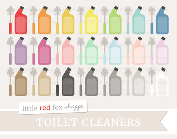 Toilet Cleaner Clipart; Brush, Cleaning, Clean, Supplies