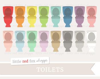 Toilet Clipart; Bathroom