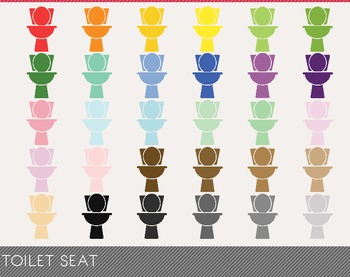 Toilet Seat Digital Clipart, Toilet Seat Graphics, Toilet Seat PNG,