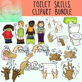 Toilet Skills and Handwashing SPED and Early Childhood Clipart BUNDLE! 37 pieces