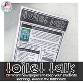Toilet Talk - Keep your students learning... EVEN in the B