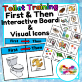 Toilet Training First and Then Board with Icons for Autism