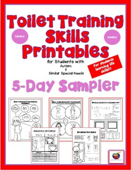 Toilet Training Skills Printables for Students with Autism SAMPLER