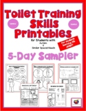 Toilet Training Skills Printables for Students with Autism