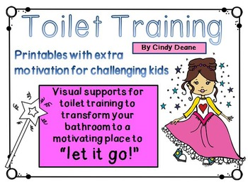 """Toilet Training: Visual supports to motivate students to """"let it go!"""""""