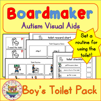 Toilet Visual Pack (boy) - Boardmaker Visual Aids for Autism SPED