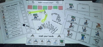 Toilet Visual Pack (girl) - Boardmaker Visual Aids for Autism SPED