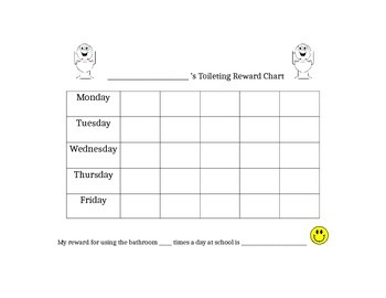 Toileting Reward Chart