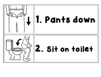 Toileting Visual Schedule
