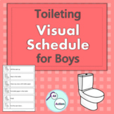 Toileting visual schedule for boys (Autism and Special Education)
