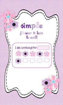 Positive Reinforcement -Token Board - Token System- 10 Tokens - Flower - Girly