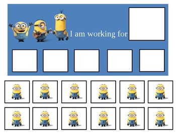 graphic about Token Board Printable titled Autism Token Board Minions