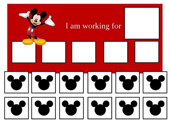photograph about Token Board Printable named Autism Token Board Mickey Mouse