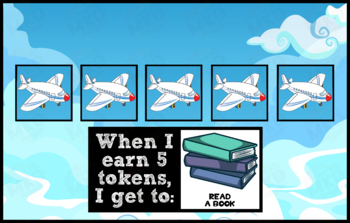 Token Board - Airplane Theme