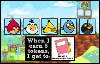 Token Board - Angry Birds Theme