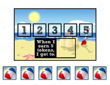 Token Board - Beach Theme