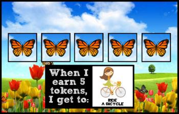 Token Board - Butterfly Theme