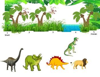 Token Board- Dinosaur/Jungle