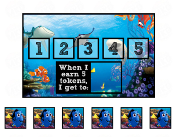 Token Board - Finding Dory Theme