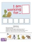 Token Board - Five Square - Dinosaur Theme!
