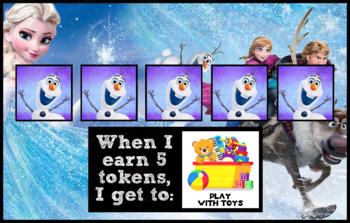 Token Board - Frozen Theme