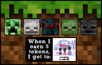 Token Board - Minecraft Mob Theme
