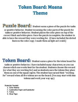 Token Board: Moana Theme