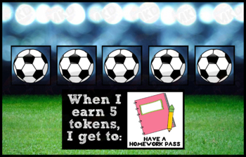 Token Board - Soccer Theme