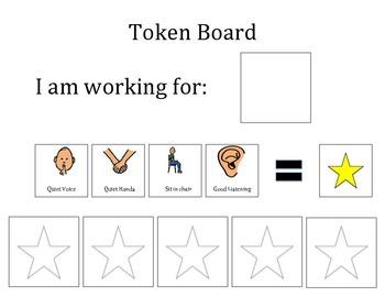 photograph regarding Token Board Printable called Token Message boards Celebrities Worksheets Coaching Materials TpT