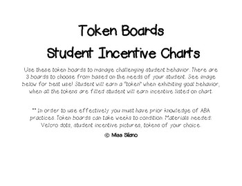 Token Board (Student Incentive Chart)