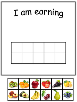 Token Board with Fruit Tokens