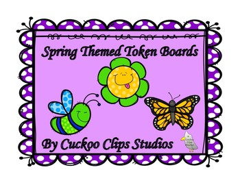 Token Boards Incentives Charts (Spring Themed)