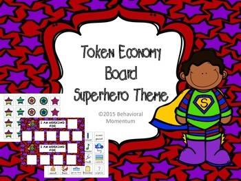 Token Boards (Superhero Theme)