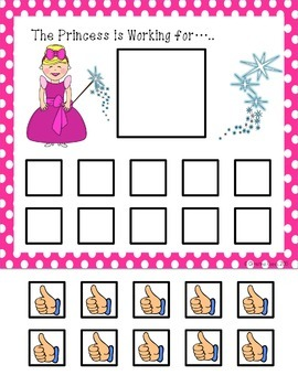 graphic about Token Board Printable named Token Forums: The Princess and the Teach (Autism)