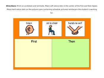 Token Boards and Visual Schedules for Special Education/ B