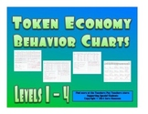 Token Economy Behavior Charts Level System Levels 1 - 4