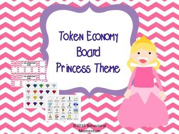 Token Economy Board (Princess & Diamonds Theme)