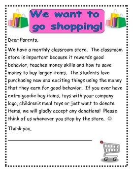 Token Economy: Classroom Store
