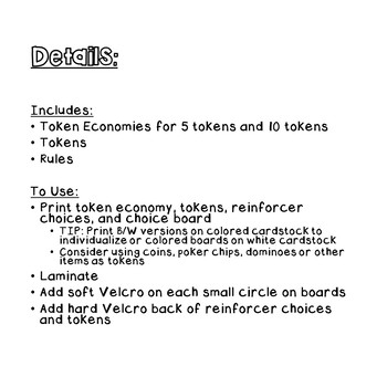 Token Economy Motivational System- AUTISM/SPED
