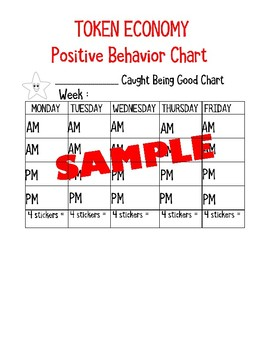 Token Economy Positive Behavior Sticker Chart