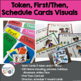 Token, First/Then, Schedule Cards Visuals for Special Education