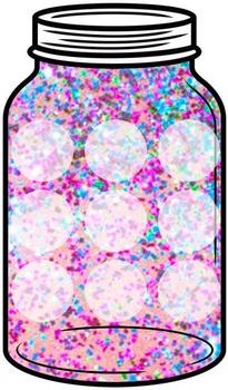 Token Jar - Blurry Glitter Jar