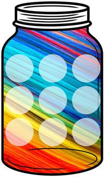 Token Jar - Colorful Strands Jar