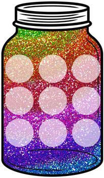 Token Jar - Rainbow Glitter Jar